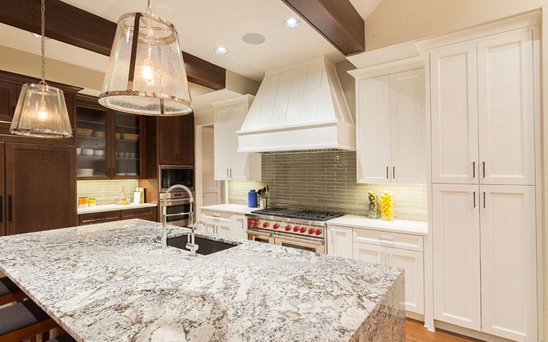 Quartz kitchen counter